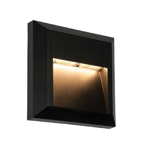 LED Black abs plastic & clear Polycarbonate Wall Light BX61219-17 by Endon (Double Insulated)